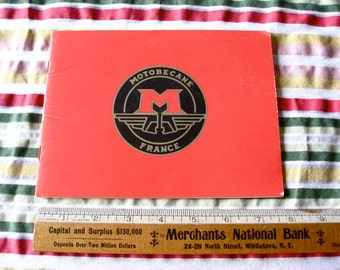 Montobecane French Bicycle 1975 manual Booklet  French Ten Speed BIKE