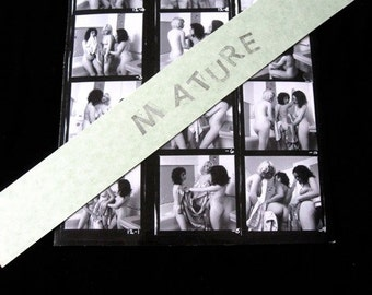 "SIXTIES Nude Contact Sheet  3 BUSTY Women  Bathing Erotic Explicit Photos 8 1/2""  x 11"" Sex Sexual Natural"