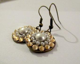 Golden Pearly earrings