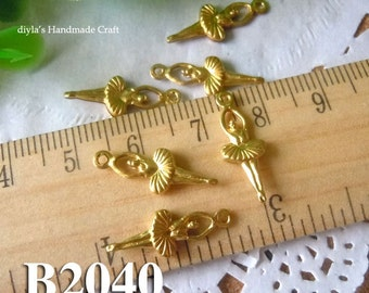 20pcs 19mm  raw brass  Filigree Jewelry Stampings for bead wraps/caps /flowers(B2040)