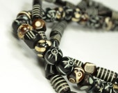 Wrapped Tribal Necklace - Natural Bead Layered Style