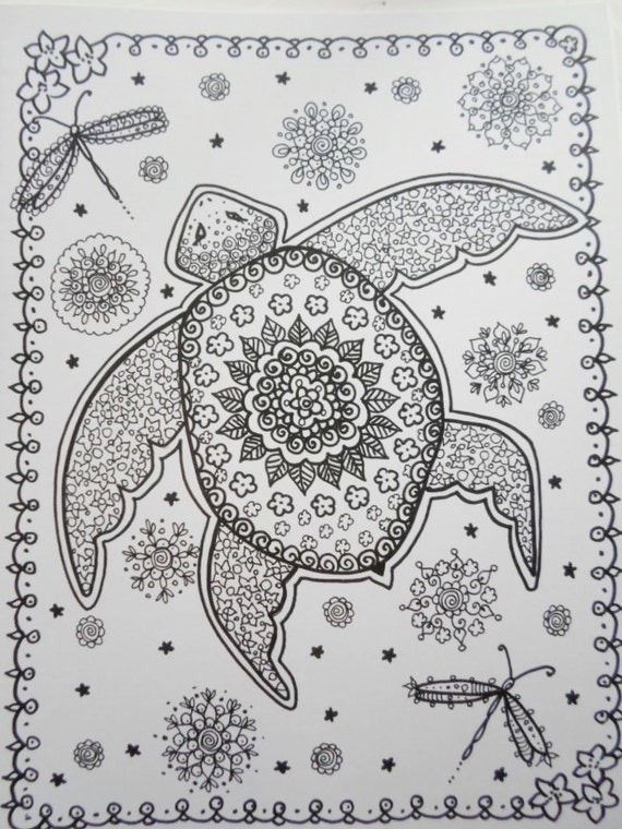 coloring book sea turtles coloring book you be the artist fun zentangle style art to color adult color book - Zentangle Coloring Book