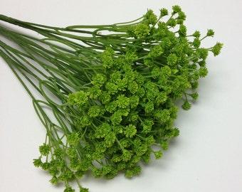 Artificial Flower BUSH - LIME GREEN Plastic Baby's Breath - Gypsophila - Artificial Flowers, Greenery, Filler