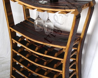 "WINE RACK - ""Chianti"" - Large Concave Wine Barrel Wine Rack - 100% recycled"