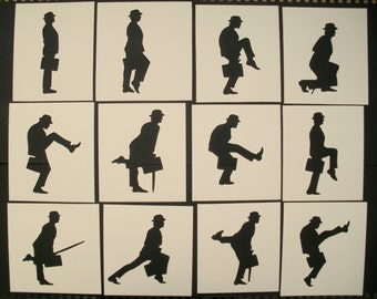 Monty Python Ministry Of Silly Walks Stencils Set Of 12