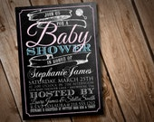 DIY Printable Chalkboard Baby Shower Invitation