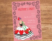 Valentine's Day Party Custom Invitation