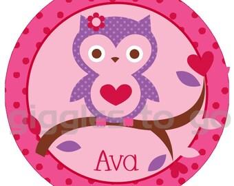 Valentine's Girly Owl  Iron on