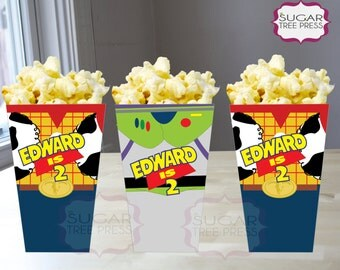 Printable-Toy Story Inspired Popcorn or Snack Box - Birthday Party Favor