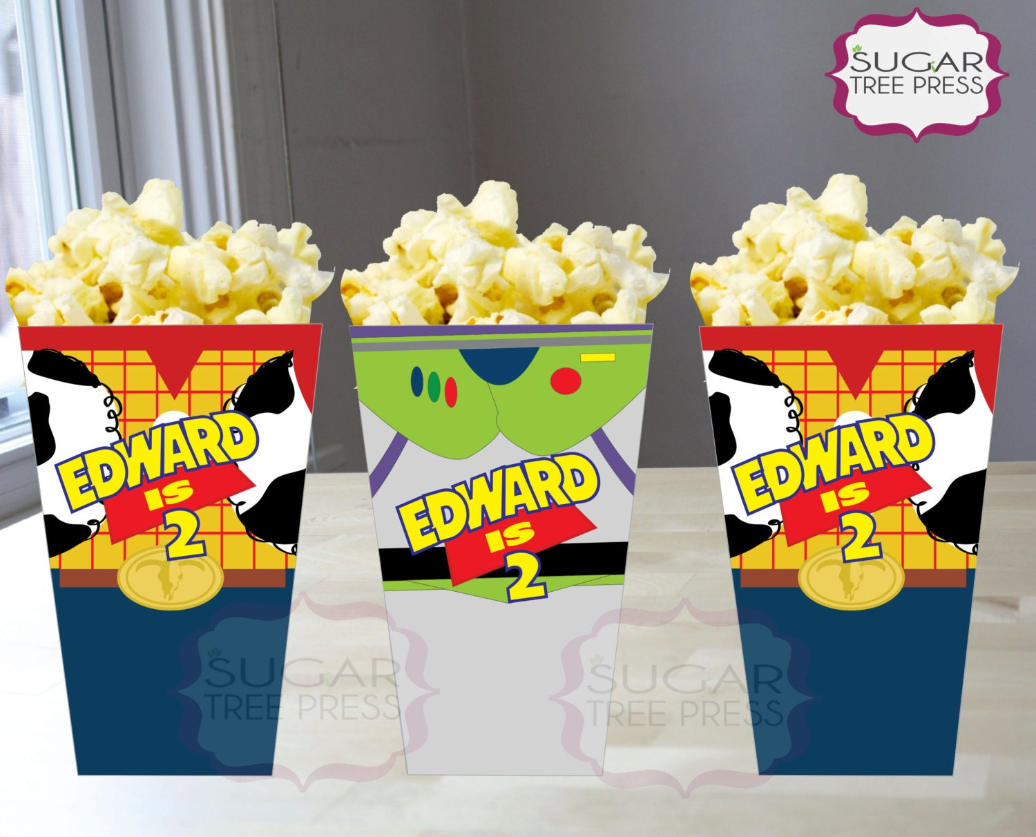 Toy story party ideas birthday in a box - Printable Toy Story Inspired Popcorn Or Snack Box Birthday Party Favor