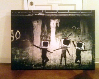 BANKSY CANVAS HUGEEEEEE Enormous Wall Consuming Canvas Custom Designed For You