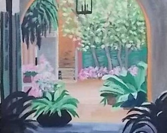 SALE Soniat House Courtyard Print, French Quarter, New Orleans, Louisiana art