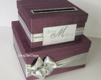 Card Box, Wedding Card Box, Bling Money Box, Gift Card Box - Custom Made