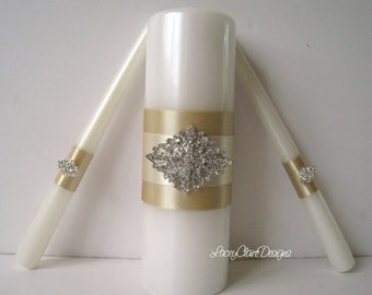 Unity Candles Wedding Candle Ceremony Set For
