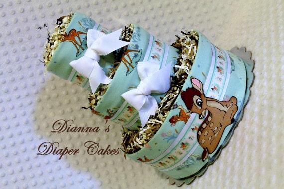 Baby Diaper Cake Bambi Book Theme Shower Gift Or Centerpiece