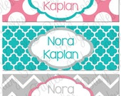 Personalized Waterproof Labels Waterproof Stickers Name Label Dishwasher Safe Daycare Label School Label - Nora, 30 piece set