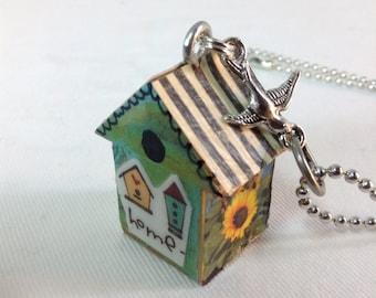 Little Birdhouse Necklace Pendant