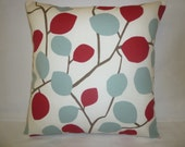 "Pillow Color choices Red Duck Egg Blue Designer Cushion Cover Throw Scatter Pillow. ONE x 16"" (40cm)"