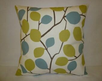 "PAIR Cushion Pillow Covers Green Blue Designer Pillowcase Sham Slips Accent Throw Pillow. Two x 16"" (40cm)"