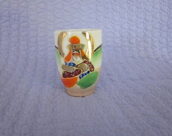 Little made in Japan lustre ware Saki cup