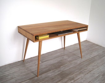 Jeremiah Collection Open Mid Century Desk Without Drawers