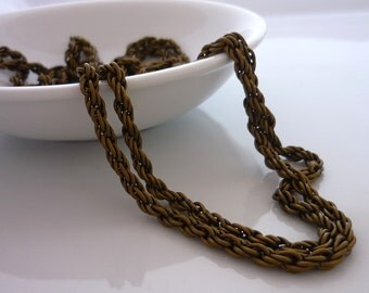 Vintage Antiqued gold fancy chain 12 inches