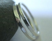 Silver Stack Rings Skinny Bands Pinky Stacking Ring Size 4 Teen Jewelry