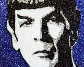 Spock -glitter art 9x12