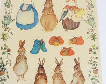 Embossed Bunny Rabbit and Friends Cut Outs and Costumes