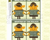 Custom Invitation from the Cops and Robbers/Police DIY Printable Birthday Party Collection by Spaceships and Laser Beams