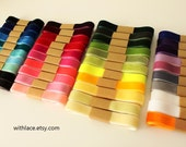 Moving Clearance---Sample pack, 20 yards velvet ribbons set (non-stretch), choose your colors---5/8''