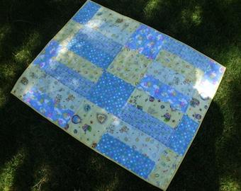 Flannel baby boy quilt