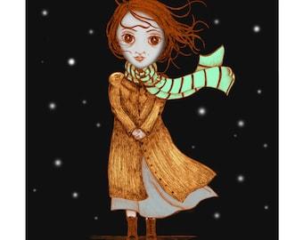 Esther & A Night Wind - 8 1/2 x 11 Illustration Print
