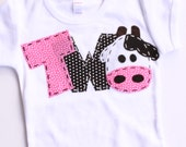 2 barnyard birthday shirt, two, cow, 2nd, girl  t shirt, barn yard, farm theme, white