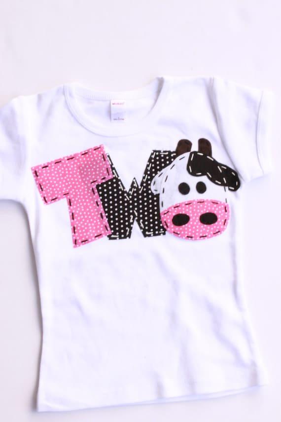 2nd Barnyard Birthday Shirt Two Cow 2nd Girl T Shirt