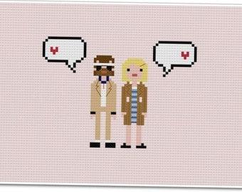 Richie & Margot - The *Original* Pixel People In Love - PDF Cross-stitch Pattern - INSTANT DOWNLOAD