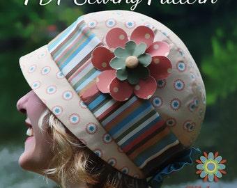 FLAPPER HAT PATTERN, Vintage Cloche Hat Sewing Pattern, Digital Hat Pattern, Retro Hat Pattern, Womens Hat Pattern, Hat pdf pattern