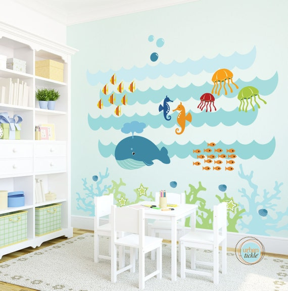 Kids Wall Decal Under The Sea Extra Large Nursery Artwork