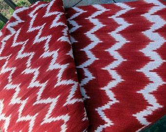 Guatemalan Fabric in Chevron Stripe Ikat