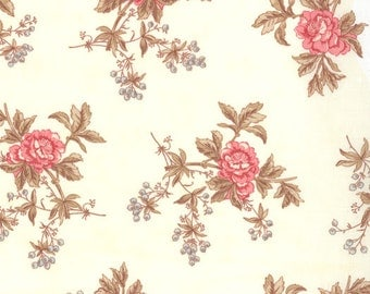 Lario - Blooms & Berries in Ivory by 3 Sisters for Moda Fabrics - Last Yard
