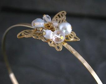 Butterfly Headband,  Bridal head piece, Rhinestone headband, Wedding headband, Bridal hair piece, Bridal headpiece, prom headband