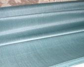 "Peace Silk Fabric. Ahimsa Silk. Slow Fashion Fabric. Handwoven. Natural, organic, fairtrade fabric. 42"" / 106 cm wide. Duck Egg Blue Color."