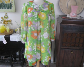 1960 Flowered Dress