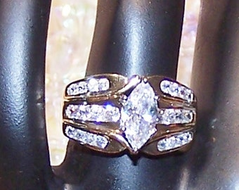 Marquis Gold Ring Size 7 1/4