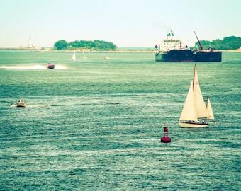 Boston Harbor, Massachusetts, New England, Boston, City Art, Boston Harbor Print, Massachusetts Photography, Coastal Photography