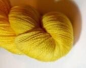 Golden sunshine Stardust Celestial Lace weight yarn