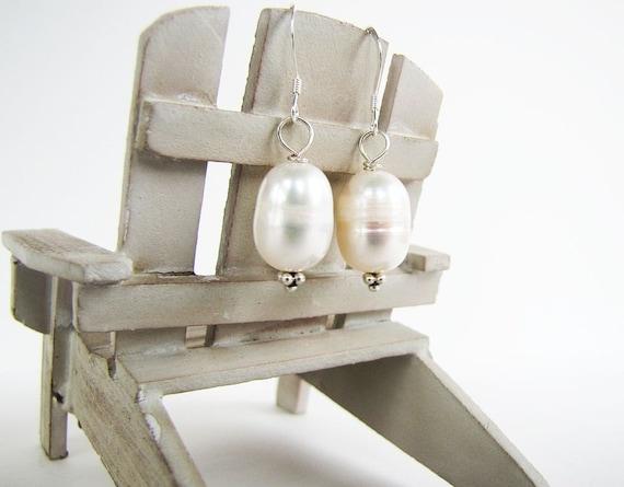 solitude ... earrings ... big freshwater pearls