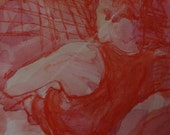 Gold ink and red wash studies - Erg Piece 1