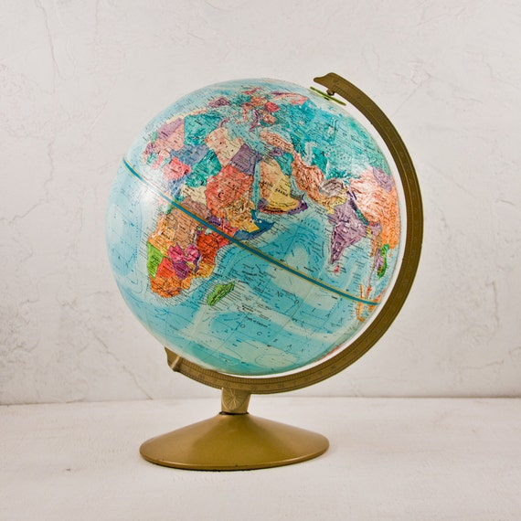 VINTAGE GLOBE Home or Office Decor Valentine Gift Guide Goodmerchants