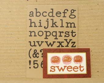 alphabet no.2 (large) unmounted rubber stamp